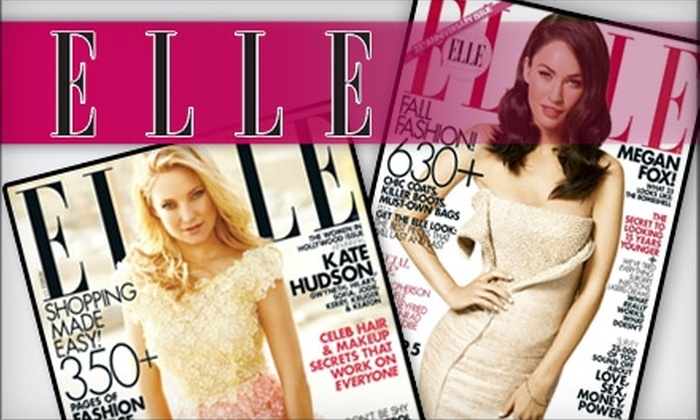 """""""ELLE"""" Magazine - Richmond: $13 for a Two-Year Subscription to """"Elle"""" Magazine ($16 Value)"""