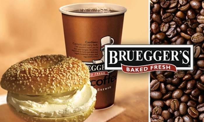 Bruegger's  - Overland Park: $39 for a Bottomless-Mug-Club Card at Bruegger's Bagels