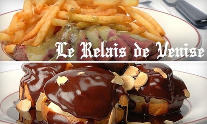 Le Relais de Venise L'Entrecôte - New York City: $18 for $36 Worth of French Bistro Cuisine and Drinks at Le Relais de Venise L'Entrecôte