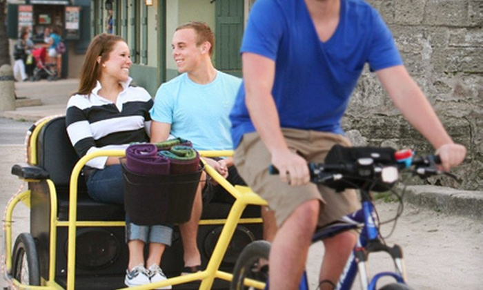 Pedicab of St. Augustine - Jacksonville: Standard or Deluxe Downtown Pedicab Tour for Two from Pedicab of St. Augustine (Half Off). Four Tour Options Available.