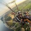 Lot widokowy motoparalotnią