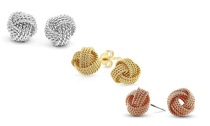 Twist Love Knot Earrings Groupon Goods