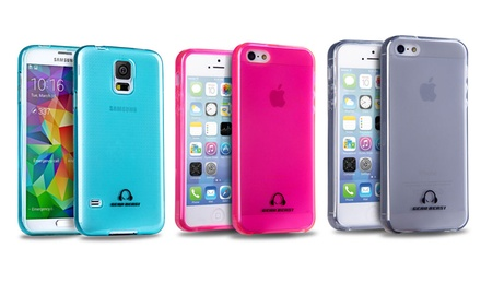 Gear Beast GripJelly Flexible Glossy Cases for Galaxy S5 and iPhone 5/5s