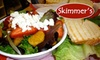 Skimmer's - Multiple Locations: $7 for $15 Worth of Paninis, Gelato, and More at Skimmer's