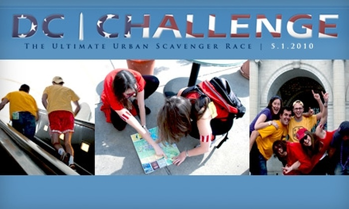 DC Challenge - Downtown - Penn Quarter - Chinatown: $25 to Participate in the DC Challenge Ultimate Urban Scavenger Race ($50 Value)