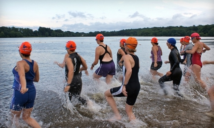 Team Training New England - Coventry Lake: Women's Triathlon Training Clinics Between June 11 and July 9 from Team Training New England. Three Options Available.