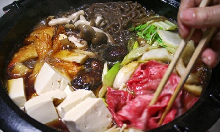 Tomoya Japanese Bistro & Bar - Larentian West: Shabu-Shabu Hot Pot Dinner for Two or Four at Tomoya Japanese Bistro & Bar (Up to 56% Off)