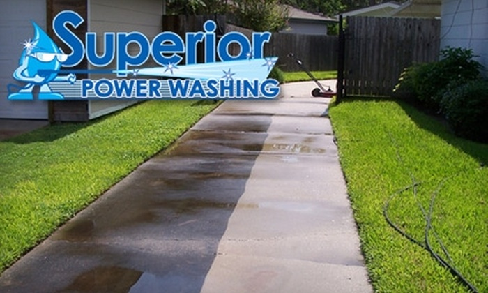 Superior Power Washing - Corpus Christi: $55 for a Driveway and Sidewalk Power Wash from Superior Power Washing