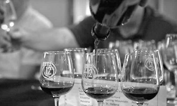 Bottle12 Wine Bar - Bonner - Loring: Wine Class for Four or Eight with Appetizers and Souvenir Wine Glasses at Bottle12 Wine Bar in Bonner Springs