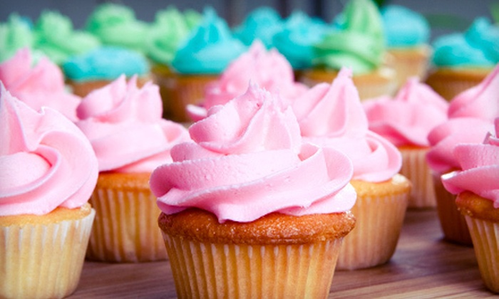 Rachael's Cupcake & Cafe - Roselle: One Dozen Small Cupcakes or $30 Worth of Baked Goods and Beverages at Rachael's Cupcake & Café (Half Off)
