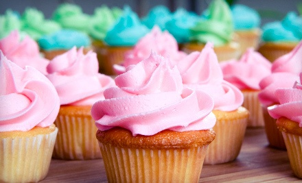 One Dozen Small Cupcakes or $30 Worth of Baked Goods and Beverages at Rachael's Cupcake & Café (Half Off)