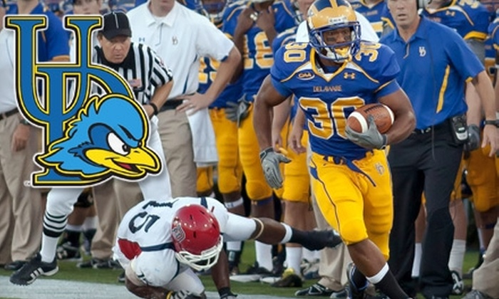 University of Delaware Football - Newark: $13 for a Final Regular Season Football Game Sideline Reserve Ticket at the University of Delaware on November 20 at Noon ($27 Value)