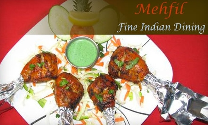 Mehfil - Downtown Redmond: $15 for $30 Worth of Indian Cuisine and Drinks at Mehfil in Redmond