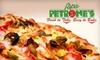 Papa Petrone's Take 'N Bake - Lake Ridge: $20 for $40 Worth of Oven-Ready Pizza and Italian Fare at Papa Petrone's Take 'N Bake in Woodbridge