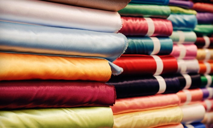 Skyline Fabric Warehouse - Northeast Calgary: Fabrics or Roll of Ribbon at Skyline Fabric Warehouse (Up to 59% Off). Three Options Available.