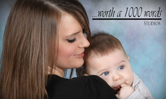 """Worth A 1000 Words Studios - Southwest Topeka: $29 for a Portrait Package for Two People Including Two 8""""x10"""" Prints, Four 5""""x7"""" Prints, Three 4""""x6"""" Prints, Four 3""""x5"""" Prints, and 16 Wallet-Size Prints at Worth A 1000 Words Studios ($74.85 Value)"""