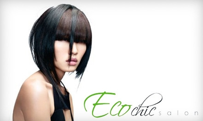 Eco Chic Salon - Irvine Business Complex: $35 for a Haircut, Blowout, and Lavender Tea-Tree Scalp Massage at Eco Chic Salon in Irvine
