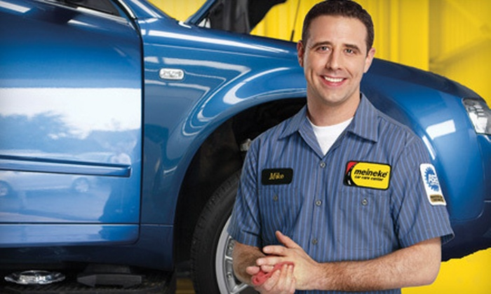Meineke Car Care Centers - Multiple Locations: Oil-Change Package, Four-Wheel Alignment, or Lifetime Brakes for One Axle at Meineke Car Care Centers (Up to 63% Off)