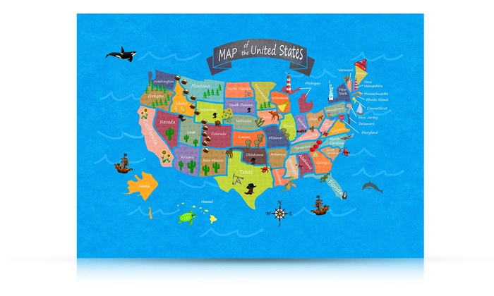 United States Map Magnets.Kids Magnetic Usa Map Groupon Goods