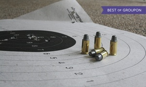 Hi-Caliber Firearms: Shooting-Range Package for Two or One-Month or One-Year Membership at Hi-Caliber Firearms (Up to 52% Off)