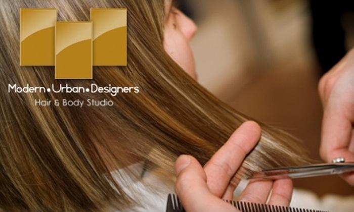 Modern Urban Designers Hair & Body Studio - Westmount: $30 for a Haircut or Semipermanent Mascara at Modern Urban Designers Hair & Body Studio (Up to $60 Value)