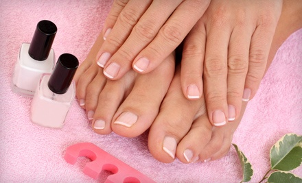 1 Manicure and 1 Pedicure (a $55 total value) - NewStyle Salons in Appleton