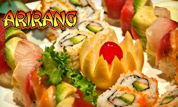 Arirang Hibachi Steakhouse and Sushi Bar - Sayreville: $20 for $40 Worth of Japanese Cuisine and Drinks at Arirang Hibachi Steakhouse and Sushi Bar in Parlin