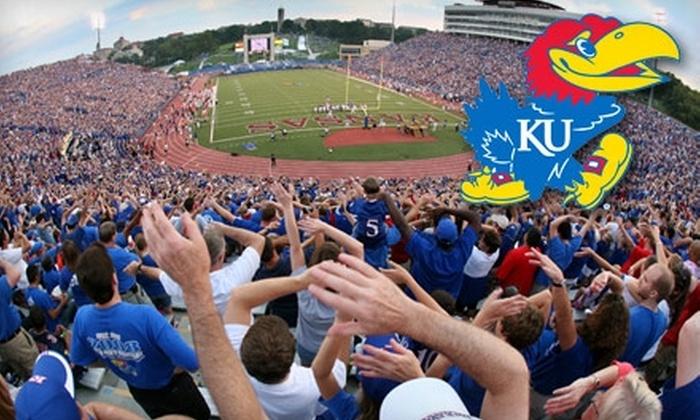 Kansas University Football - East Lawrence: Ticket to Kansas University Football Game. Choose Between Two Games.
