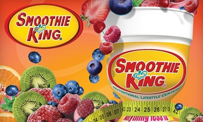 Smoothie King - Multiple Locations: $5 for Two 20-Ounce Smoothies at Smoothie King ($10 Value)