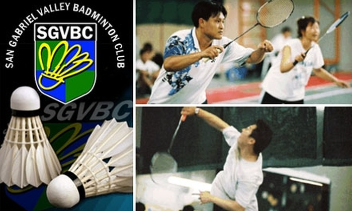 San Gabriel Valley Badminton Club - Rosemead: $20 for Two Hours of Court Rental at San Gabriel Valley Badminton Club in El Monte ($44 Value)