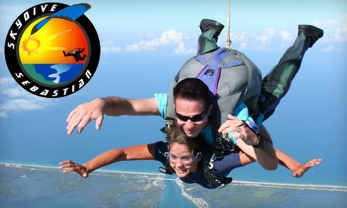 Skydive Sebastian - Sebastian: $135 for a Tandem Skydive Jump and T-Shirt from Skydive Sebastian (up to a $215 value)