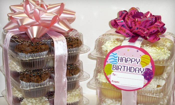 Swirls Cafe - Canton: Dozen Gourmet Cupcakes or Custom Cupcake Tower at Swirls Cafe in Canton