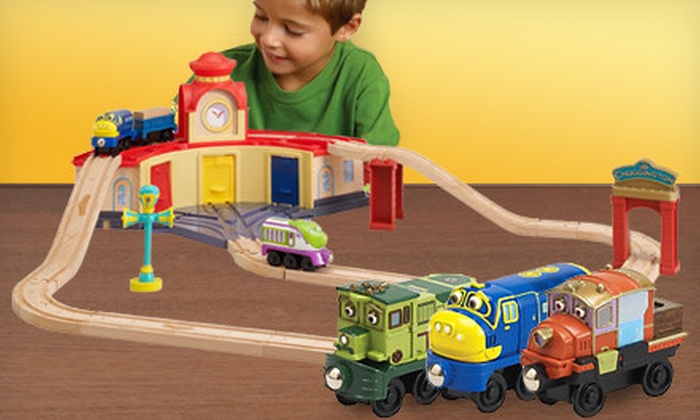 Learning Curve: $69 for a Chuggington Wooden Railway Trainee Roundhouse Set from Learning Curve ($130.99 Value)