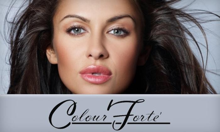 Colour Forté - Hampden: $30 for Full Hair Color or a Mani-Pedi from Colour Forté ($65 Value)