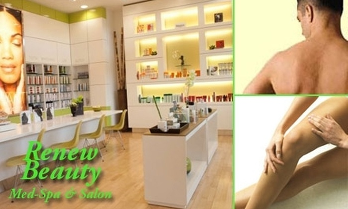 Renew Beauty and Med Spa - North Dallas: $149 for Laser Hair-Removal Treatments at Renew Beauty (Up to $2,394 Value)