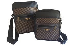 Set of Two Unisex Travel Sling Bags