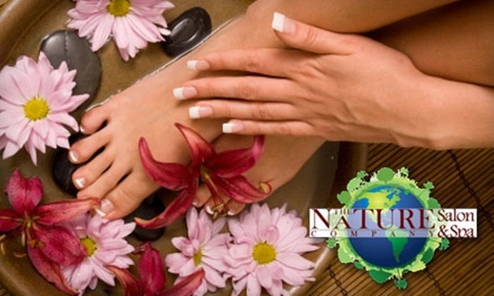 The Nature Company Salon & Spa - West University: $27 for Organic Spa Manicure and Pedicure at The Nature Company Salon & Spa ($55 Value)