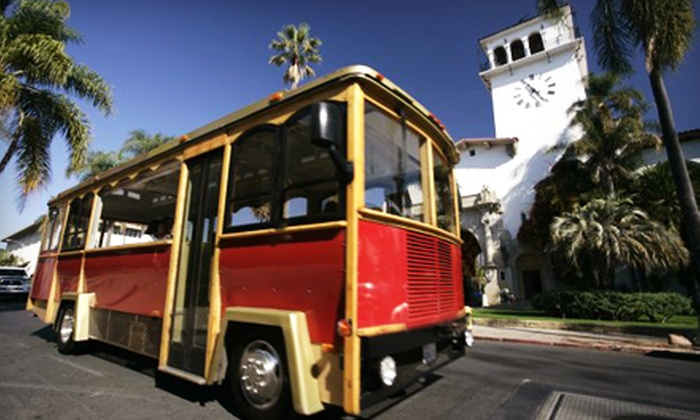 Santa Barbara Trolley - West Beach: $19 for a Trolley Tour for Two from Santa Barbara Trolley (Up To $38 Value)
