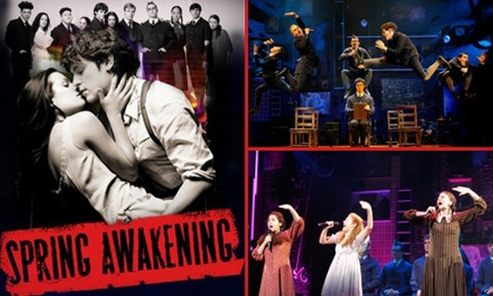 "AT&T Performing Arts Center - Downtown Dallas: $30 Dress-Circle Ticket to ""Spring Awakening"" at AT&T Performing Arts Center ($55 Value). Buy Here for the April 1 Performance at 8 p.m. See Below for Additional Dates and Times."