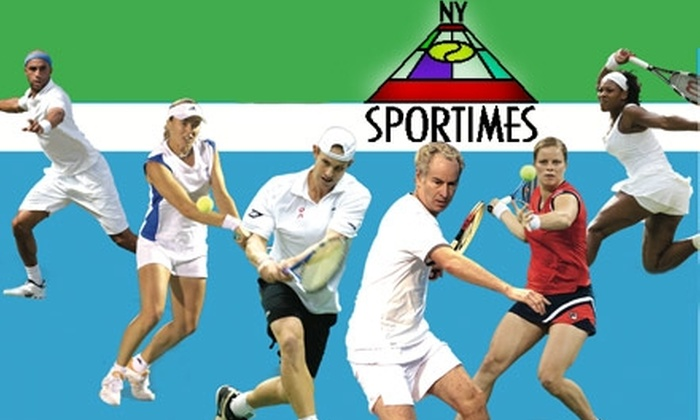 New York Sportimes - New York: $40 Ticket with Pre-Match Open Bar and Luxury Bus Transportation to a New York Sportimes Tennis Match ($70 Value). Choose from Seven Dates.