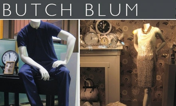 Butch Blum - Central Business District: $100 for $200 Worth of High-End Apparel at Butch Blum