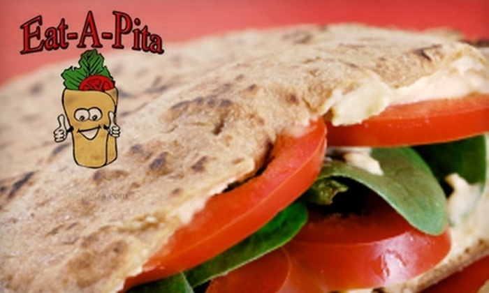 Eat a Pita - Multiple Locations: $5 for $10 Worth of Fresh Sandwiches, Salads, and More at Eat-A-Pita