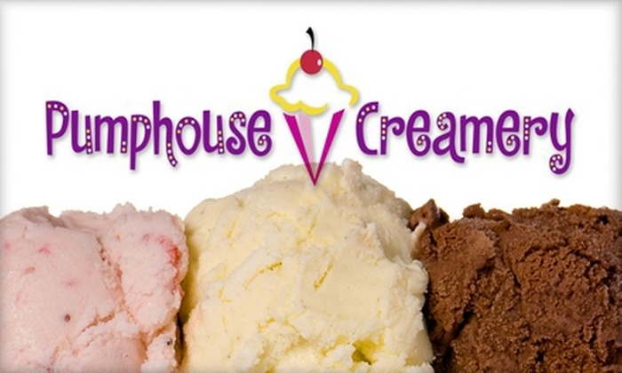 Pumphouse Creamery - Field: $5 for $10 Worth of Ice Cream at Pumphouse Creamery