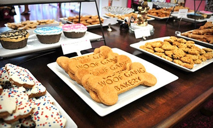 Woof Gang Bakery - Asheville: $15 for $30 Worth of Gourmet Pet Food and Toys at Woof Gang Bakery