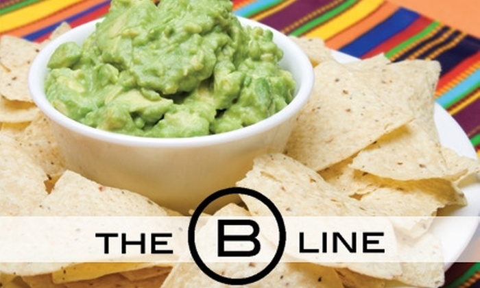 The B Line - West University: $10 for $25 Worth of Breakfast Burritos, Fish Tacos, Beverages, and More at The B Line