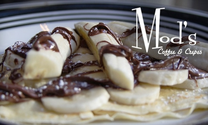 Mod's Coffee & Crepes - Downtown Tulsa: $6 for $12 Worth of Crêpes, Gelato, and More at Mod's Coffee & Crepes