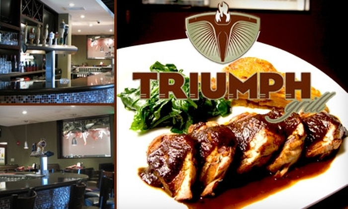 Triumph Grill - Grand Center: $15 for $35 Worth of Eclectic American Fare and Drinks at Triumph Grill