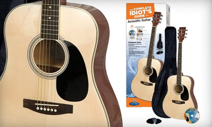 The Complete Idiots Guide Acoustic Guitar Pack: $89 for The Complete Idiots Guide Acoustic Guitar Pack by Alfred Music ($149.99 Value)