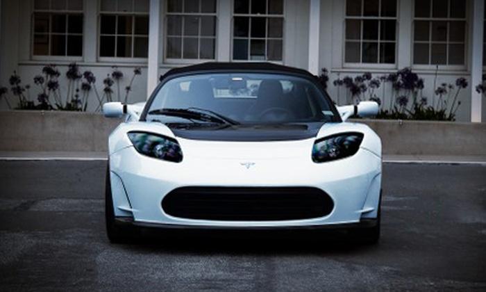 HiGear - South Beach: Full-Day Tesla Roadster Rental or Luxury-Car Rental from HiGear