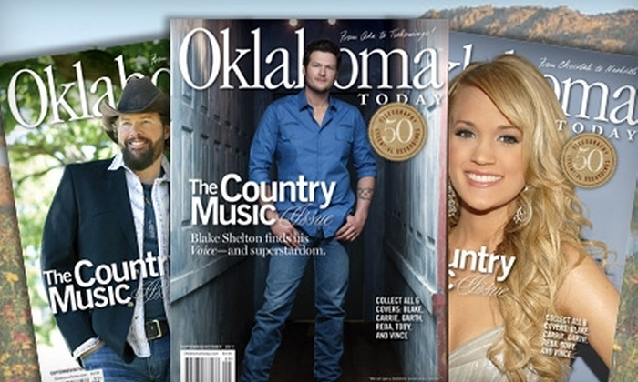 "Oklahoma Today Magazine: $10 for a One-Year Subscription to ""Oklahoma Today"" Magazine ($24.95 Value)"